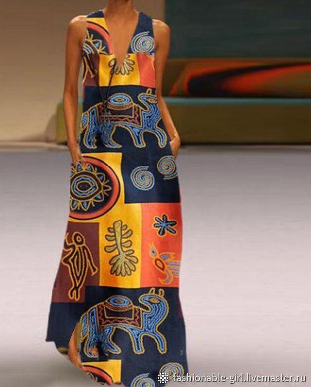 Платье в богемном стиле с принтом, Платья, Павловский Посад,  Фото №1