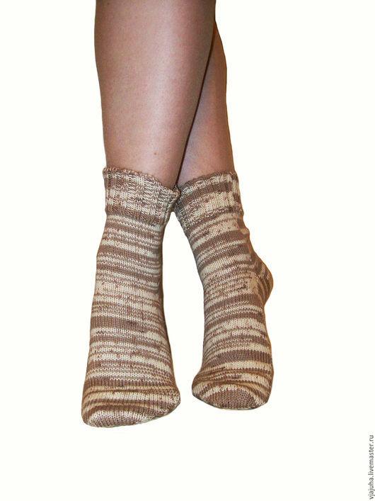 Носки, Чулки ручной работы. Ярмарка Мастеров - ручная работа. Купить тонкие шерстяные носки. Handmade. Носочки вязаные, шерсть