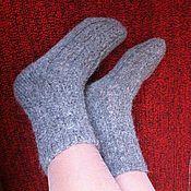 Аксессуары ручной работы. Ярмарка Мастеров - ручная работа Шерстяные ажурные носки - женские. Handmade.