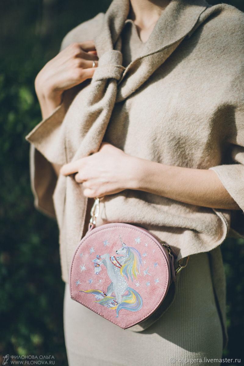 Round shoulder bag 'My unicorn', Crossbody bag, Moscow,  Фото №1