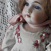 Куклы и игрушки ручной работы. Ярмарка Мастеров - ручная работа Бархатное платье с вышивкой. Handmade.