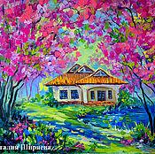 Картины и панно handmade. Livemaster - original item The picture with Sakura