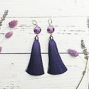 handmade. Livemaster - original item Earrings with silk tassels