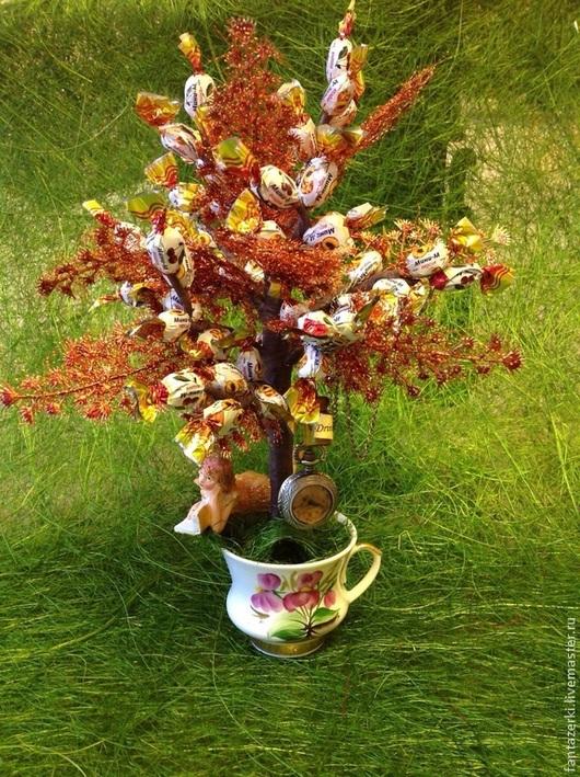 Кулинарные сувениры ручной работы. Ярмарка Мастеров - ручная работа. Купить Конфетное дерево АЛИСА В СТРАНЕ ЧУДЕС. Handmade.