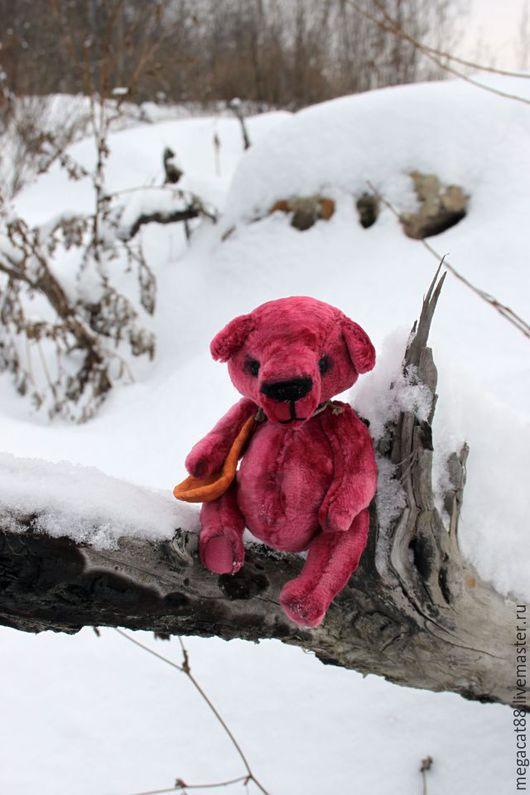 Мишки Тедди ручной работы. Ярмарка Мастеров - ручная работа. Купить мишка тедди Малина на снегу. Handmade. Фуксия, малина
