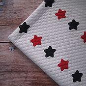 Ткани ручной работы. Ярмарка Мастеров - ручная работа Капитоний Красные и синие звездочки. Handmade.
