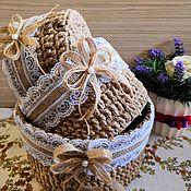 Корзины ручной работы. Ярмарка Мастеров - ручная работа Набор корзиночек из джута. Handmade.
