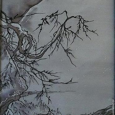 Картины и панно ручной работы. Ярмарка Мастеров - ручная работа Панно батик Китайские мотивы. Handmade.
