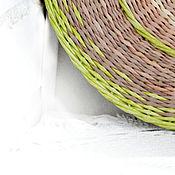Посуда handmade. Livemaster - original item Wicker dish on the wall First green. Handmade.