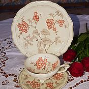 Винтаж handmade. Livemaster - original item Weimar.Vintage tea trio.Germany.. Handmade.