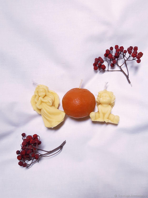 Набор свечей из ангелов и мандарина, Свечи, Калининград,  Фото №1