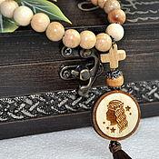 Работы для детей, handmade. Livemaster - original item Souvenir of juniper beads. The zodiac sign Virgo.. Handmade.