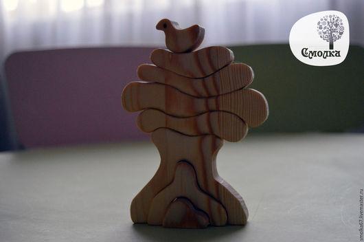 Развивающие игрушки ручной работы. Ярмарка Мастеров - ручная работа. Купить Деревце-пазл (балансир). Развивающая деревянная игрушка.. Handmade.