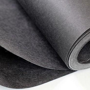 Материалы для творчества ручной работы. Ярмарка Мастеров - ручная работа Флизелин неклеевой, отрывной 80 г/м2 чёрный. Handmade.