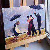 """Картины и панно ручной работы. Ярмарка Мастеров - ручная работа Картина на холсте """"Поющий дворецкий"""" Веттриано. Handmade."""