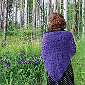Аксессуары ручной работы. Ярмарка Мастеров - ручная работа Вязаный платок (косынка) Фиолетовый. Handmade.