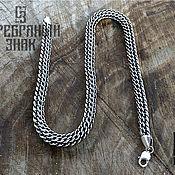 Chain handmade. Livemaster - original item Pharaoh/Python Chain. 925 sterling silver weight about 96gr. art.One million ninety five thousand ni. Handmade.