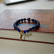 Украшения handmade. Livemaster - original item Rosary bracelet made of lapis lazuli. Handmade.