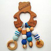 Куклы и игрушки ручной работы. Ярмарка Мастеров - ручная работа Грызунок-прорезыватель Мишка именной. Handmade.