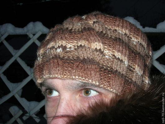 """Для мужчин, ручной работы. Ярмарка Мастеров - ручная работа. Купить Мужская шапка """"Для тебя-4"""". Handmade. Шапка"""