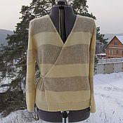 Одежда ручной работы. Ярмарка Мастеров - ручная работа Жакет с запАхом из мериноса и мохера. Handmade.