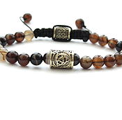 Украшения handmade. Livemaster - original item Bracelet with bead natural stone agate. Handmade.