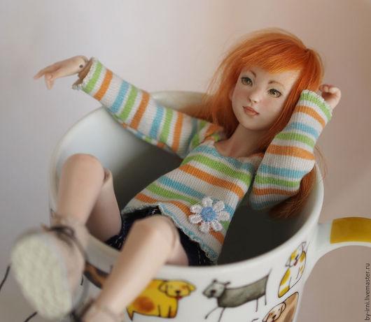 Коллекционные куклы ручной работы. Ярмарка Мастеров - ручная работа. Купить Кэтрин. Handmade. Рыжий, подарок на любой случай