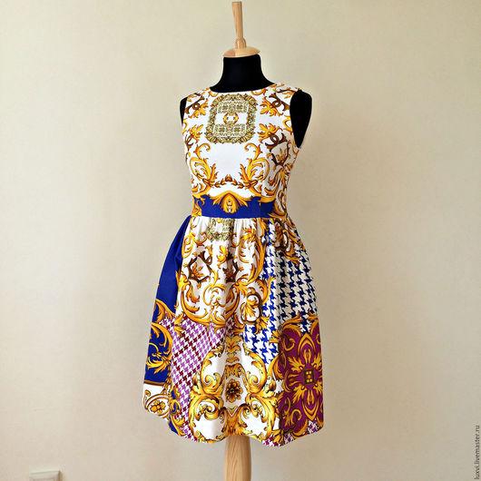 """Платья ручной работы. Ярмарка Мастеров - ручная работа. Купить Платье из хлопка """"Барокко"""". Handmade. Белый, итальянский хлопок"""