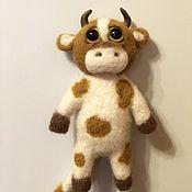 Куклы и игрушки handmade. Livemaster - original item Goby made of wool. Fridge magnet. Handmade.