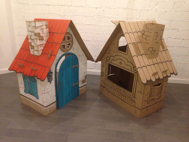 Домики для детей из картона