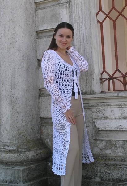 Sweatshirts & Sweaters handmade. Livemaster - handmade. Buy Cardigan summer crochet 'Crimea'.Crochet, openwork cardigan, dressy clothes