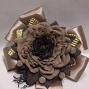 handmade. Livemaster - original item Exclusive bow with a rose from Tamarana. Handmade.