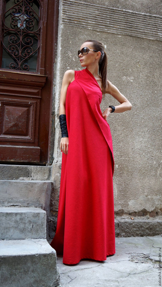 красный цвет красный сарафан в пол летнее яркое платье в пол стильное платье макси яркие платья дизайнерское платье