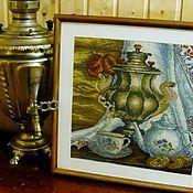 Картины ручной работы. Ярмарка Мастеров - ручная работа Натюрморт с самоваром. Handmade.