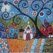 """Картины и панно handmade. Livemaster - original item Mosaic painting """"Fairy garden"""". Handmade."""