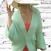 Одежда handmade. Livemaster - original item Ready to work :Knit cardigan color delicate mint NEW. Handmade.
