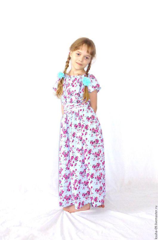 """Одежда для девочек, ручной работы. Ярмарка Мастеров - ручная работа. Купить Платье из штапеля для девочки """"Мечта"""". Handmade. Платье для девочки"""