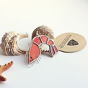 Украшения handmade. Livemaster - original item Sea brooch