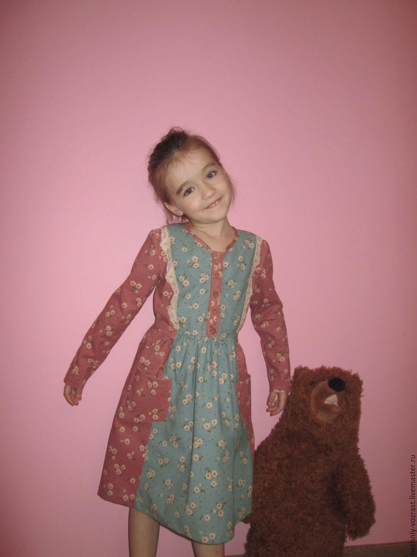 Corduroy dress ' Daisy field.', Dresses, Voskresensk,  Фото №1
