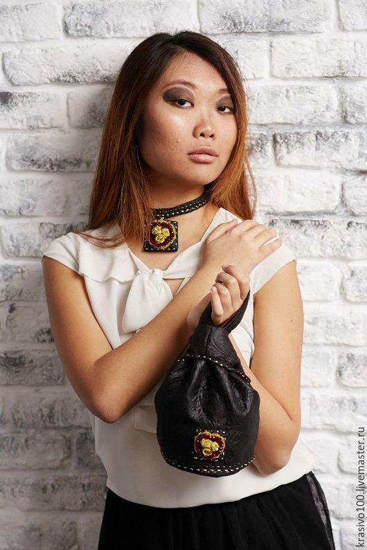 Женские сумки ручной работы. Ярмарка Мастеров - ручная работа. Купить Сумка мешок с вышивкой маленькая сумочка Японская. Handmade.