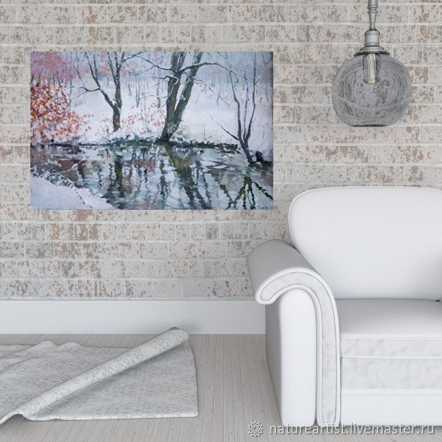 Painting landscape oil on canvas Sorceress winter, Fine art photographs, Moscow,  Фото №1