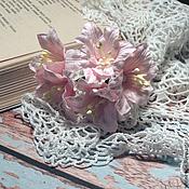 Цветы искусственные ручной работы. Ярмарка Мастеров - ручная работа Лилии бледно-розовые 5шт. Handmade.