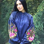 """Блузки ручной работы. Ярмарка Мастеров - ручная работа Элегантная вышитая блуза """"Цветочный вечер"""". Handmade."""