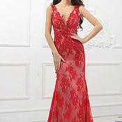 Одежда ручной работы. Ярмарка Мастеров - ручная работа Красное вечернее платье. Handmade.