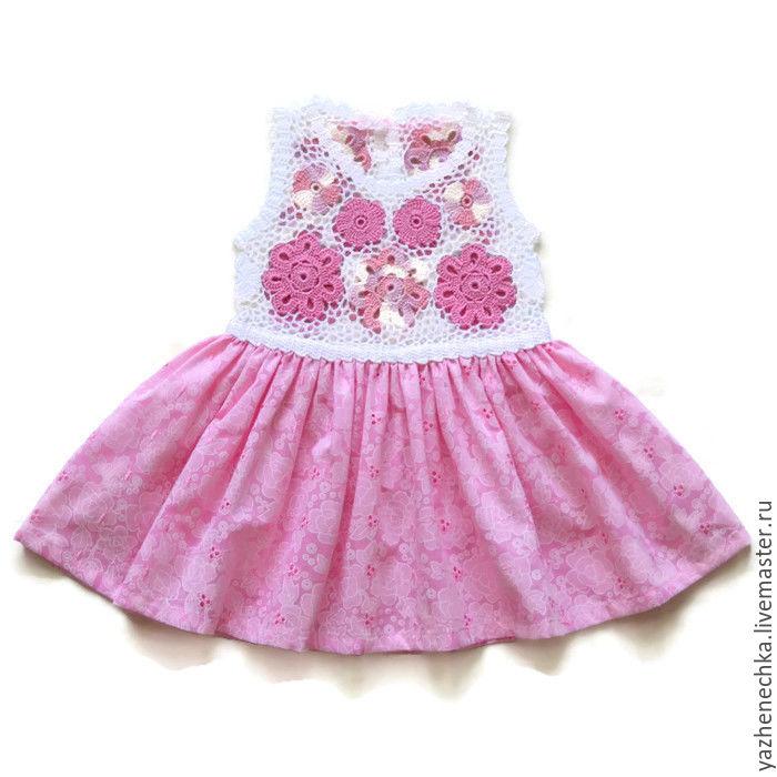 0d280dcb274 Платье из хлопка для новорожденной девочки Цветочки – купить в ...