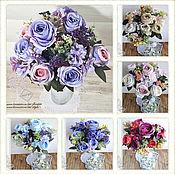 """Цветы искусственные ручной работы. Ярмарка Мастеров - ручная работа Букет роз """"Вдохновение"""". Handmade."""