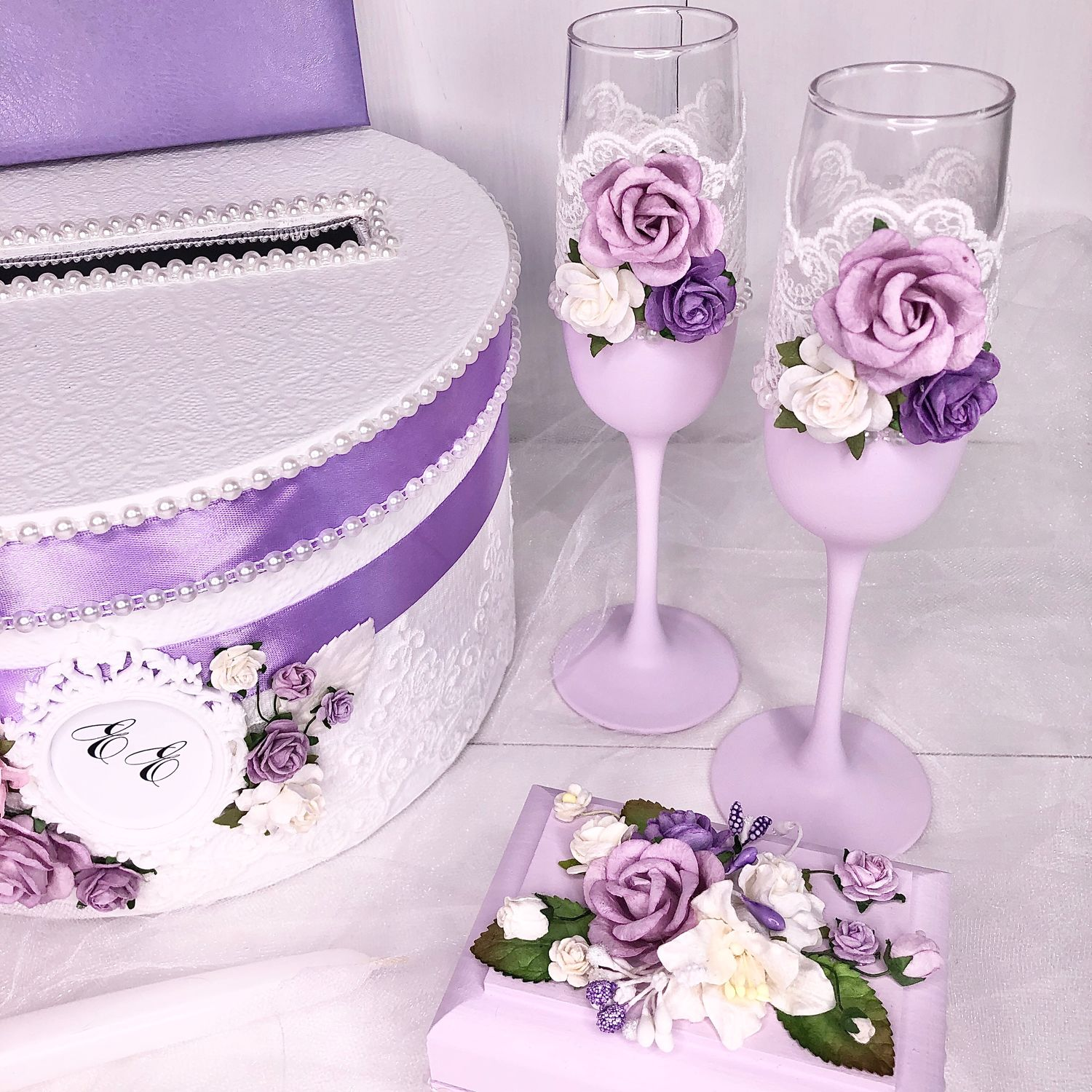 Wedding glasses Lilac inflorescence, Wedding glasses, Moscow,  Фото №1