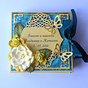 Свадебный салон ручной работы. Ярмарка Мастеров - ручная работа Изумрудная коробочка для денег. Handmade.