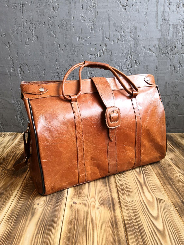Мужские сумки ручной работы. Ярмарка Мастеров - ручная работа. Купить Дорожная сумка  из натуральной кожи верблюда. Handmade.