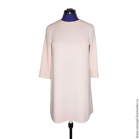 Ручная работа качественная ткань летнее платье пудровое платье платье на выход платье с рукавом 3/4 однотонное платье платье для беременных короткое платье